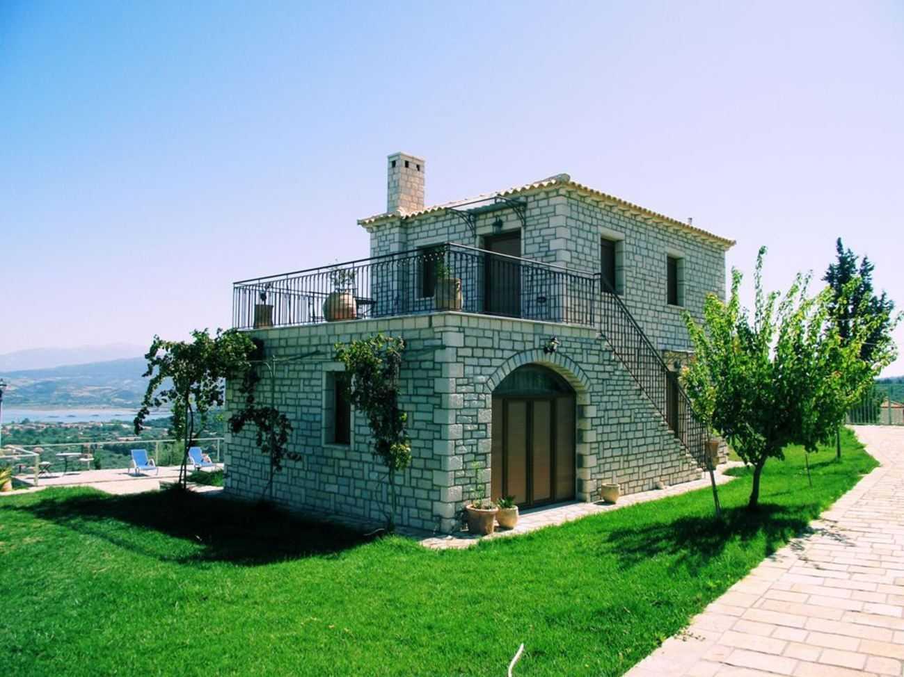 Villas panorama traditional stone villa around lefkada rentals villas - Image villa ...